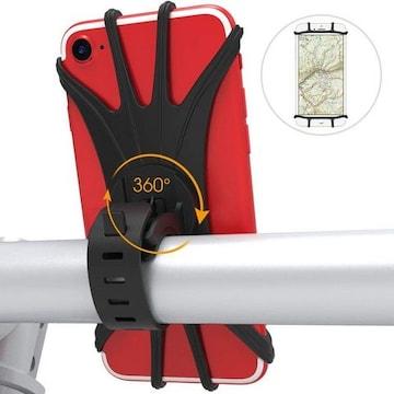 スマホホルダー 超簡単に脱着 360度回転 4-6インチ