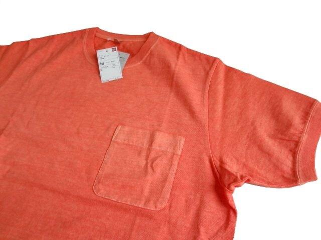 新品  UNIQLO ユニクロ ウォッシュ クルーネック Tシャツ メンズ < ブランドの