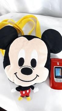 ★ミッキーマウス!デカ頭ぬいぐるみショルダーポーチ/財布