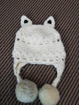 ネコ耳付、ニット帽