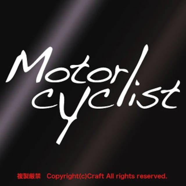 Motorcyclist/ステッカー13cm(白)バイク乗り < 自動車/バイク