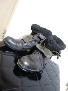 アルフレッドバニスター レイヤード ニット ブーツ