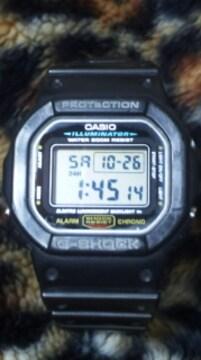 カシオG-SHOCK人気のスピードモデルDW-5600E腕時計電池交換済み