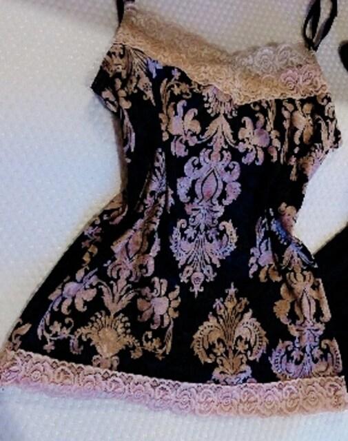豪華セクシーベロアキャミ(^_-)  < 女性ファッションの