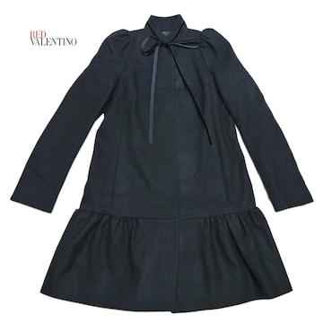 新品レッドヴァレンチノRED VALENTINOお嬢さんコート40黒