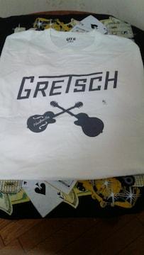 gretsch×ユニクロTシャツ�呑カビリークリームソーダロッカビートグレッチ6120ナッシュビル