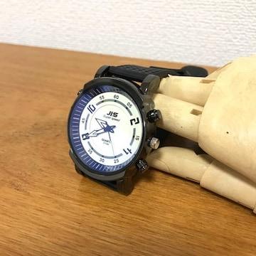 ★腕時計★JISファッションラバーウォッチ★白文字盤★