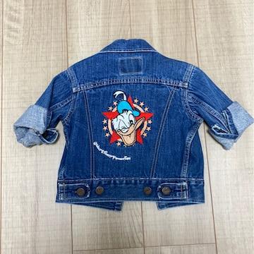 BIG-JOHN男女kidsデニムジャケット上着ディズニードナルド刺繍