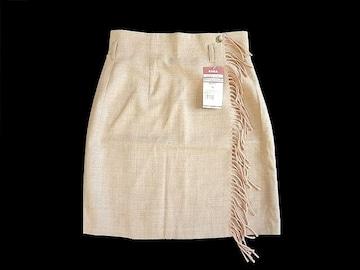 新品 無印良品 羊毛 サキソニー フラノ スカート