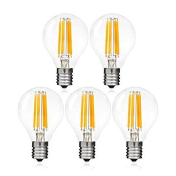 色電球色 サイズ5個入り シャンデリア電球 e17 LED電球 40w形 4W