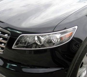 インフィニティ メッキヘッドライトリング FX35 FX45