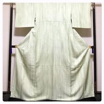 美品 高級呉服 大サイズ 身丈166 裄64 逸品 小紋 正絹 縞