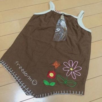 新品◆刺繍ステッチお洒落キャミソール◆130羽根飾り付