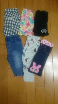 子供服(女の子)90〜サイズ☆まとめ売りボトムス6点