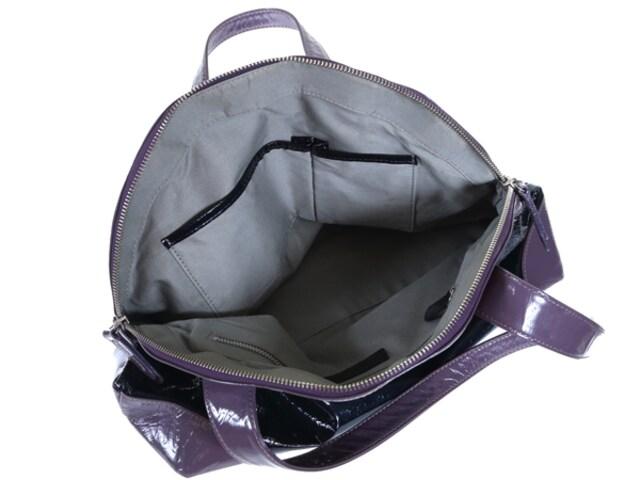 マーガレットハウエル ◆エナメルハンドバッグ◆パテント < ブランドの
