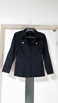 新品 ジャイロ 麻入りシャツジャケット(セットアップに) 黒  S