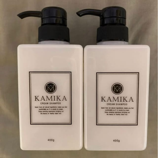 カミカ 黒髪クリームシャンプー KAMIKA 400g×2本  < インテリア/ライフの