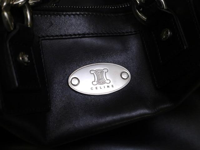 美品◆CELINEセリーヌ マカダム ベルテッドデザイン バッグ < ブランドの