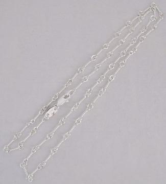 シルバー925 ツイストチェーンネックレス 45cm 新品