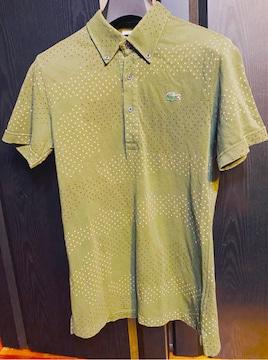 美品ラコステLACOSTEポロシャツ3カモフラ迷彩グリーンs半袖1212