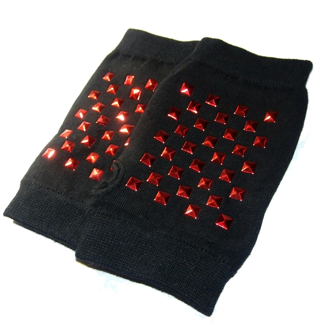 スタッズ 秒 グローブ 指なし 指なし 手袋 ハンドカバー 赤色 < 女性ファッションの