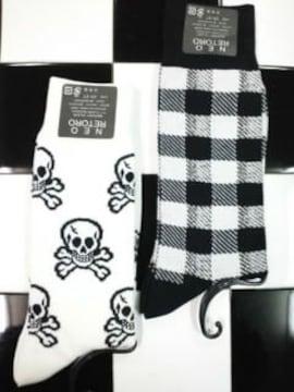 新品◆ソックス�A足セット◆パンク系ロック系◆靴下◆バラ売り不可◆