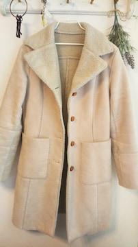 alcali*フェイクムートン暖か内ボア**すっきり見え上質コート