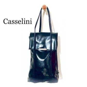 エレガントなエナメルのハンドバッグ♪【Casselini】クラシカル