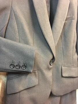 新品☆9号チャコールグレーのタイトスカートスーツ☆j952