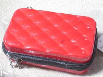 未使用タグ付☆スーツケース型マルチミニポーチ(レッド)ハード