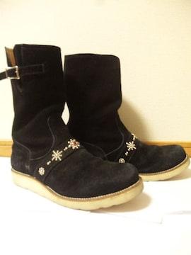 TMTティーエムティー〓ペコスブーツ靴〓黒/9〓シューズ