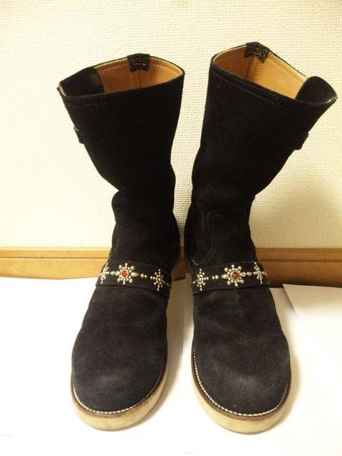 TMTティーエムティー〓ペコスブーツ靴〓黒/9〓シューズ < ブランドの