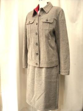 【SOLEIL】ブラウン系スカートスーツです