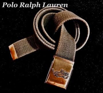 【Polo Ralph Lauren】ビッグポニー Vintage ミリタリーベルト
