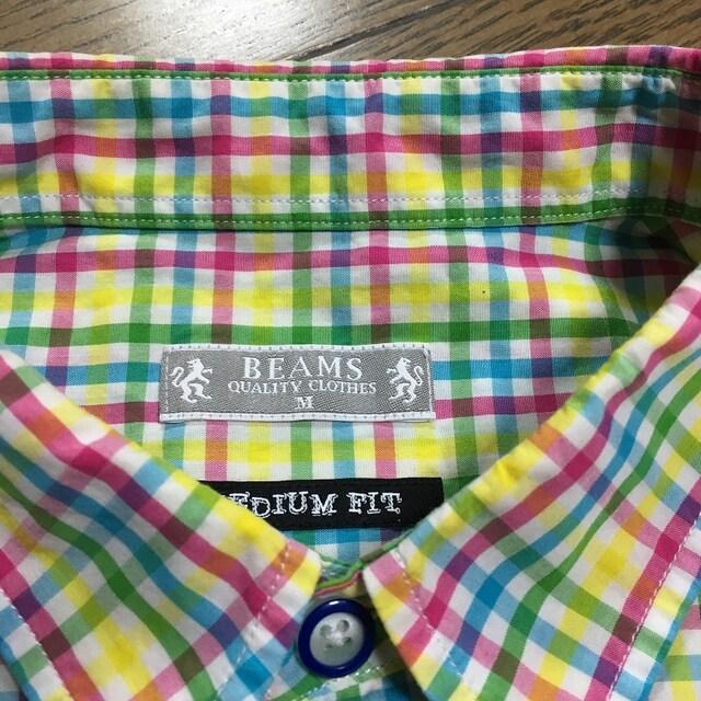 美品BEAMS シャツ チェック ビームス < ブランドの