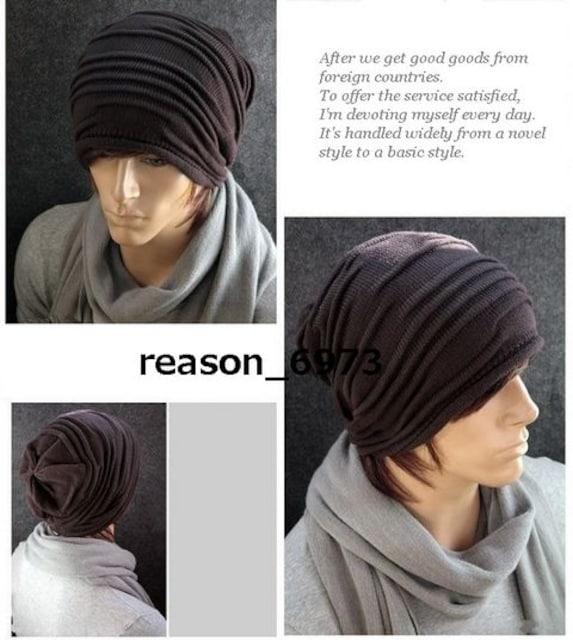 ★ヘンプロールニット帽★3色から選択 < 男性ファッションの