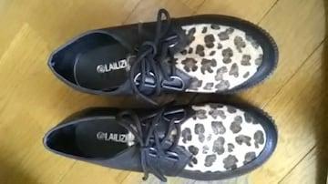 新品*厚底靴