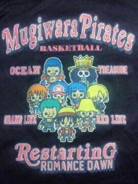 ONE PIECE ワンピース イラスト デザイン バスケットボール コラボ 長袖 Tシャツ M 黒