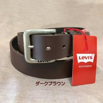 LEVI'S リーバイス 牛革 ベルト 35mm 6020 ダークブラウ