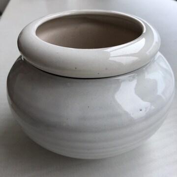 ☆未使用新品 デザイン鉢 鉢カバー ホワイト☆