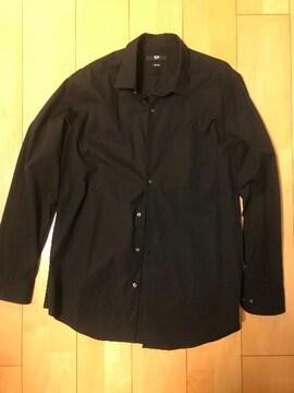 UNIQLO!X Lサイズのブラックシャツ