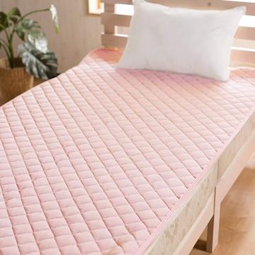 冷感ひんやり敷きパッド (シングルサイズ) (ピンク)