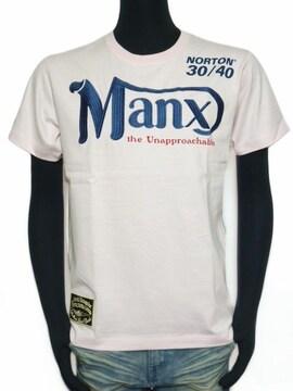 新品ノートンNorton32N1000MANX TシャツMベビーピンク
