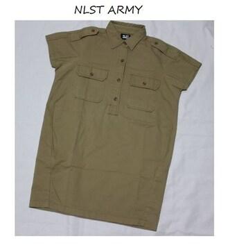 エヌリスト*NLST ARMY*ジャーナルスタンダード〓ミリタリーシャツワンピース〓