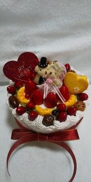 くまさんweddingケーキ☆食品サンプル☆ハンドメイド�A