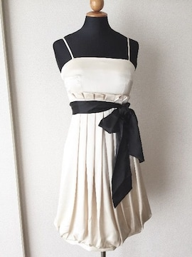 [SCOT CLUB]★ベージュ×ブラック・ドレス・サイズ[9号]★