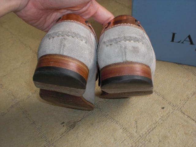 ランバン LANVIN デッキシューズ 靴 箱付 < ブランドの