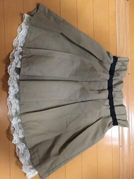 美品☆a.r.w ARROW☆レース裏地付きスカート☆膝上☆ブラウン