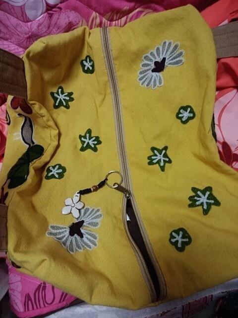 チャイハネ購入☆新品☆レア☆刺繍デザイン☆黄色バッグ☆エスニック即決! < ブランドの