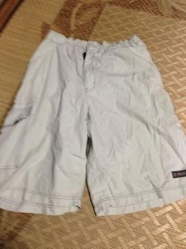 LLサイズ ホワイトの半ズボン